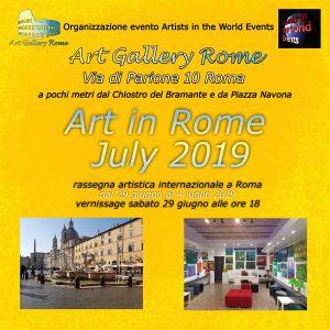 Art in Rome July 2019 flyer fronte-r